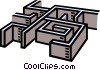 Vector Clip Art picture  of a maze