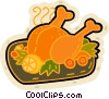 Roast turkey Vector Clip Art picture