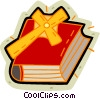 Vector Clip Art image  of a Bible and cross