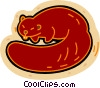 Vector Clipart graphic  of a beaver