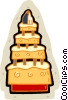 Wedding cakes Vector Clip Art picture