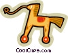 Vector Clip Art image  of a toy horse