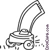 Vector Clip Art graphic  of a lawnmower