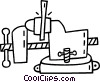 Vector Clip Art graphic  of a vice
