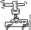Vector Clipart picture  of a clamp
