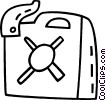 Vector Clipart image  of a gas can
