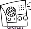 Vector Clipart image  of a radio