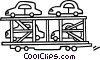 Vector Clipart illustration  of a transporting cars