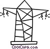 Vector Clip Art image  of a hydro towers