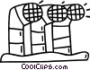 Vector Clipart image  of a exhaust vents