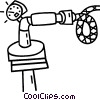 Vector Clipart image  of a timer on a pipe/hose