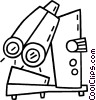 Vector Clipart picture  of a electronic microscope