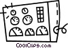 Vector Clip Art image  of a control board