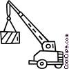 Vector Clip Art image  of a crane