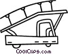 airport truck with stairs Vector Clip Art graphic
