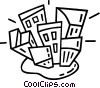 Vector Clip Art graphic  of a buildings
