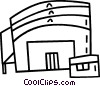 Vector Clip Art image  of a stadium
