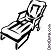 lawn chair Vector Clipart graphic