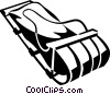 Vector Clip Art picture  of a sled