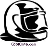 Vector Clipart illustration  of a motorcycle helmet