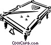 Pool table and balls Vector Clip Art graphic