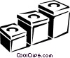 kitchen containers Vector Clipart illustration