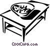 Vector Clipart picture  of a coffee table