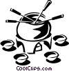 Vector Clipart graphic  of a fondue