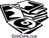 Vector Clipart image  of a CD's