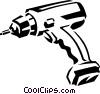 cordless drill Vector Clipart illustration