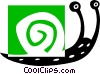 Vector Clip Art graphic  of a snail