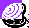 Vector Clipart graphic  of a oyster