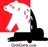 Vector Clip Art picture  of a bear