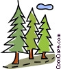 Vector Clip Art image  of a trees