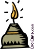 candles Vector Clip Art graphic