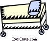 hospital bed/stretcher Vector Clipart picture