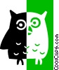 owl Vector Clipart illustration