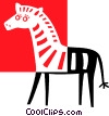 Vector Clip Art picture  of a zebra