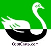 swan Vector Clipart illustration