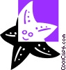 Vector Clipart image  of a starfish