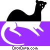 sea otter Vector Clip Art picture