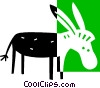 Vector Clipart picture  of a donkey