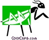 praying mantis Vector Clipart image
