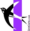 Vector Clip Art graphic  of a Swallow