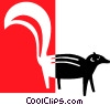 Vector Clipart picture  of a skunk