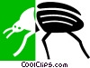 Vector Clip Art image  of a beetle