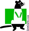 Vector Clipart image  of a Gopher