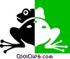 Vector Clipart picture  of a frog