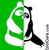 Vector Clip Art picture  of a panda bear