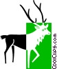 Vector Clip Art graphic  of a reindeer